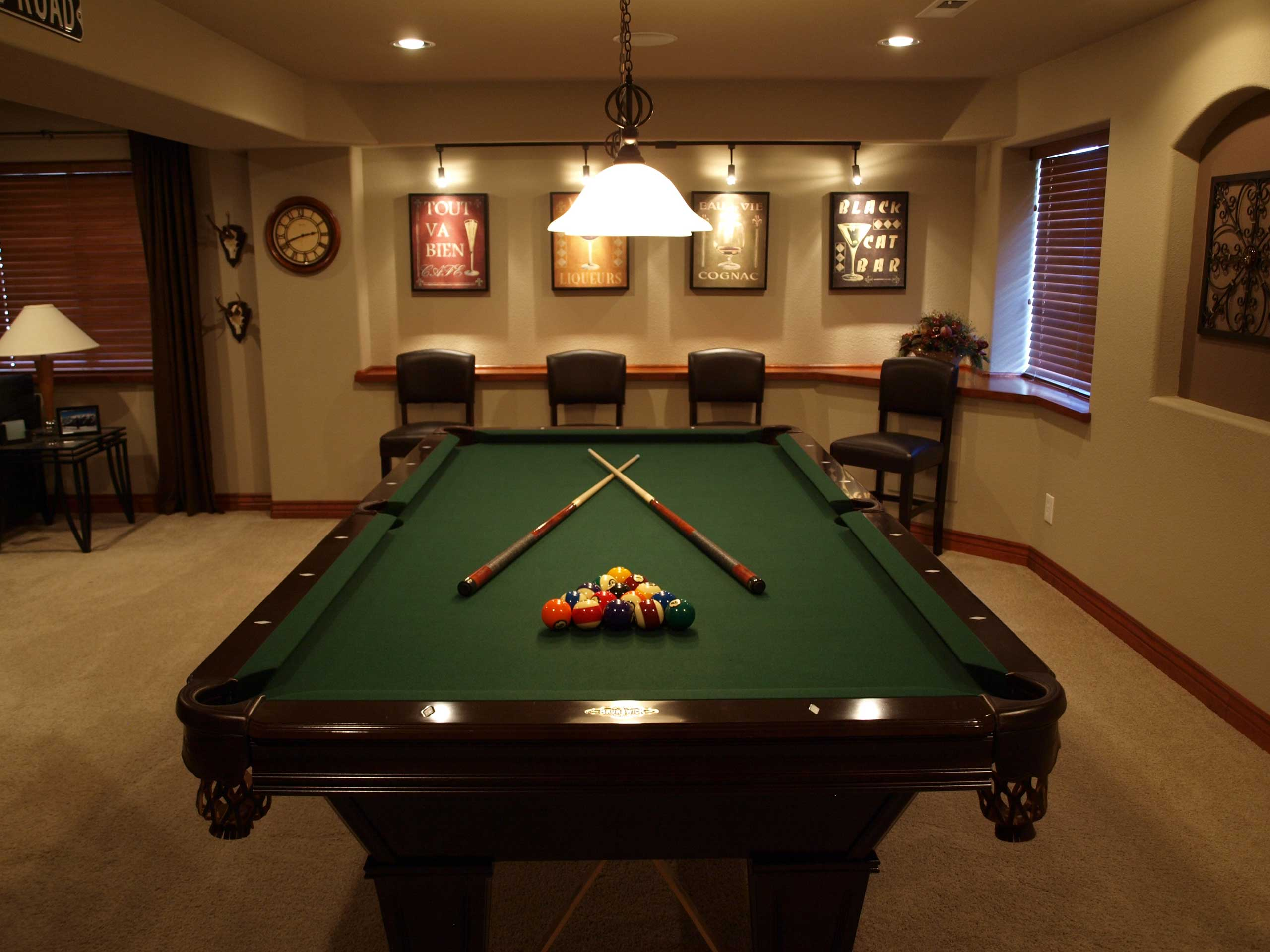 100 1000 images about pool table how much room do you - How much room do i need for a pool table ...